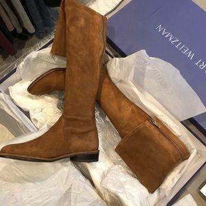 NIB Stuart weitzman thigh scraper boots size 5